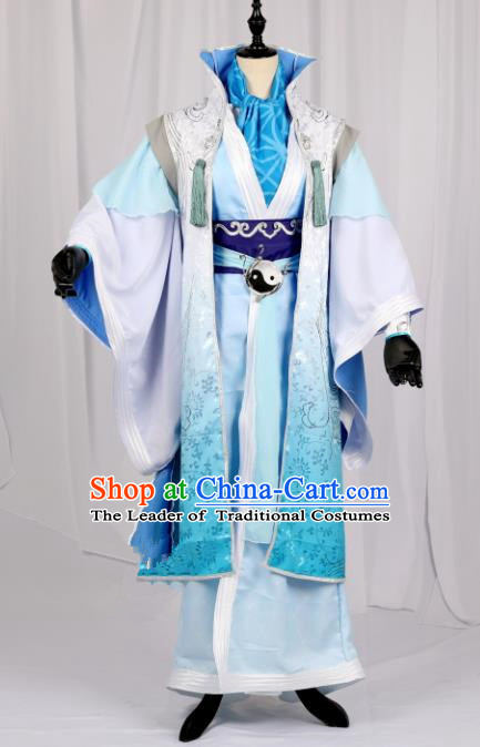 Traditional Chinese Ancient Costume Cosplay Swordsman Hanfu Clothing for Men