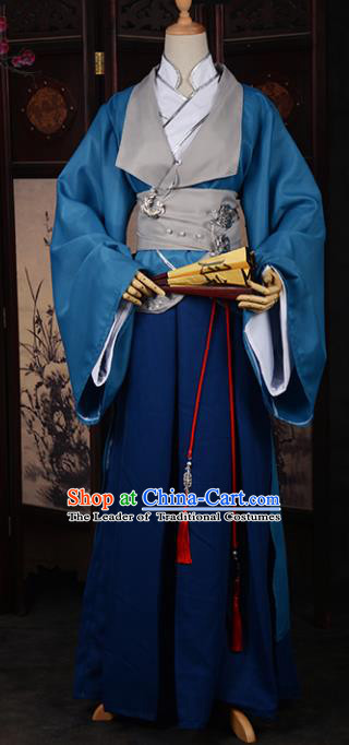 Traditional Chinese Ancient Nobility Childe Costume Cosplay Swordsman Hanfu Clothing for Men