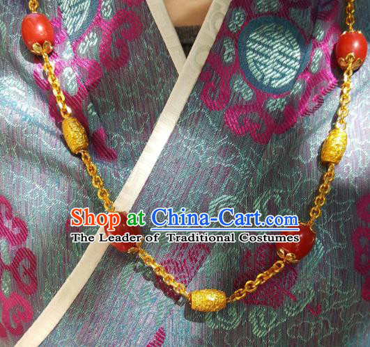 Chinese Traditional Zang Nationality Handmade Necklace, China Tibetan Ethnic Necklet for Women