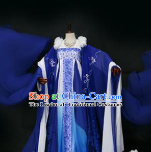 Chinese Traditional Palace Lady Costume Ancient Imperial Concubine Embroidered Hanfu Dress for Women