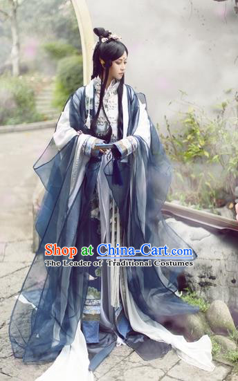 Chinese Ancient Costume Cosplay Swordsman Clothing Jin Dynasty Nobility Childe Costumes for Men