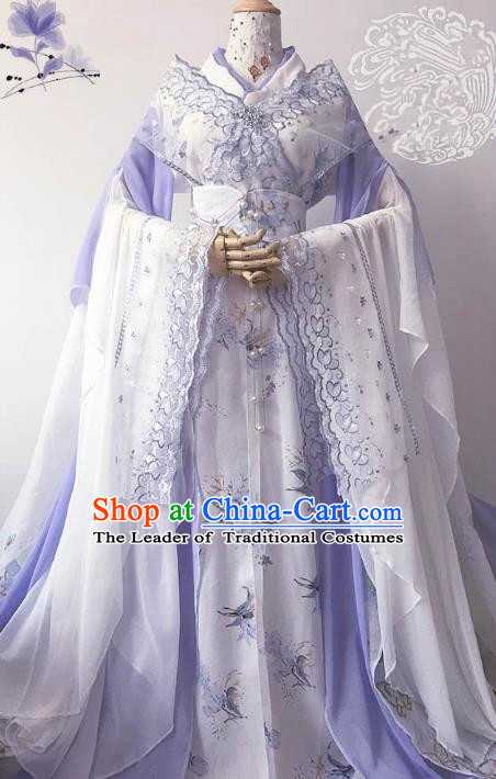 Chinese Ancient Costume Cosplay Imperial Concubine Clothing Song Dynasty Palace Lady Embroidered Hanfu Dress for Women