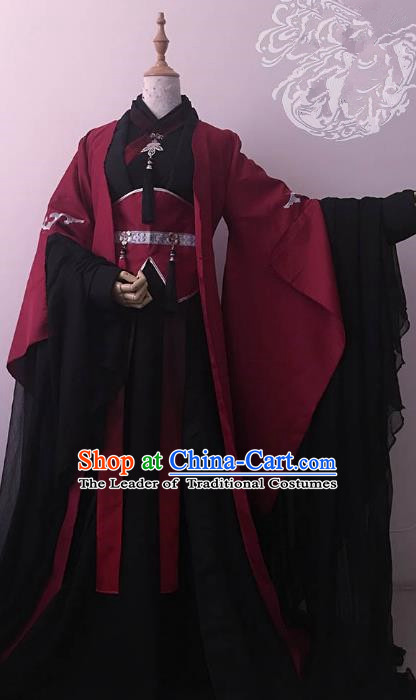 Chinese Ancient Nobility Childe Royal Highness Costume Cosplay Swordsman Clothing for Men