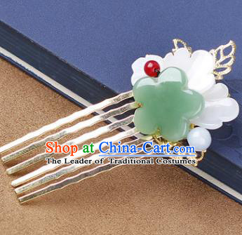 Chinese Traditional Handmade Hair Accessories Ancient Hairpins Hanfu Shell Hair Comb for Women