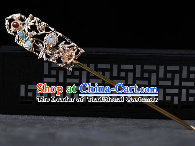 Chinese Traditional Handmade Hair Accessories Ancient Butterfly Hairpins Hanfu Hair Clip for Women