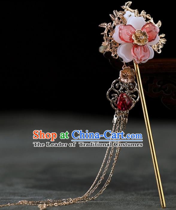 Chinese Traditional Handmade Hair Accessories Ancient Flowers Hairpins Hanfu Hair Clip for Women