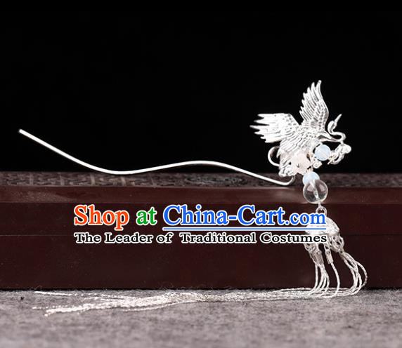Chinese Traditional Handmade Hair Accessories Ancient Tassel Hairpins Hanfu Phoenix Hair Clip for Women