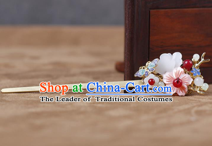 Chinese Traditional Handmade Hair Accessories Ancient Hairpins Hanfu Hair Clip for Women