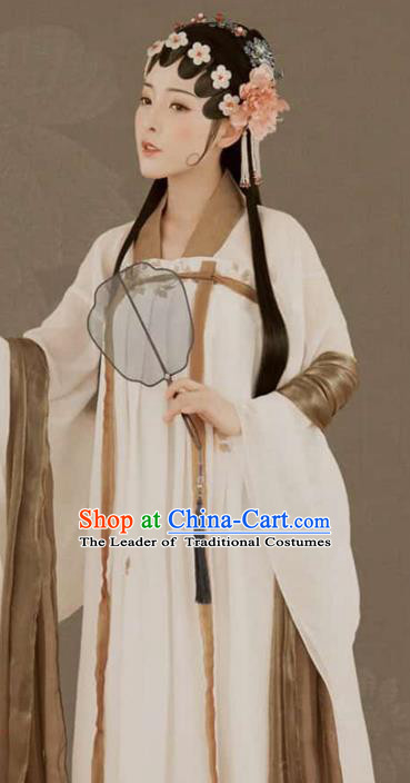Traditional Chinese Ancient Imperial Concubine Dress Beijing Opera Princess Embroidered Costume for Women