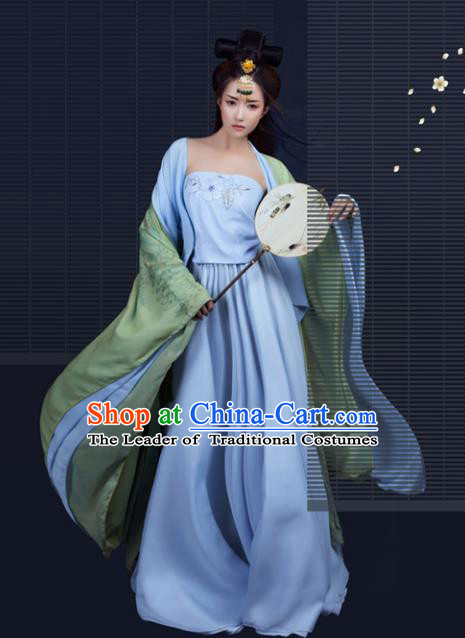 Chinese Ancient Imperial Concubine Hanfu Dress Traditional Tang Dynasty Princess Embroidered Costume for Women