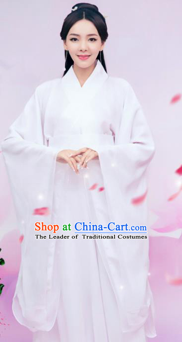 Chinese Ancient Swordswoman Hanfu Dress Traditional Han Dynasty Princess Embroidered Costume for Women