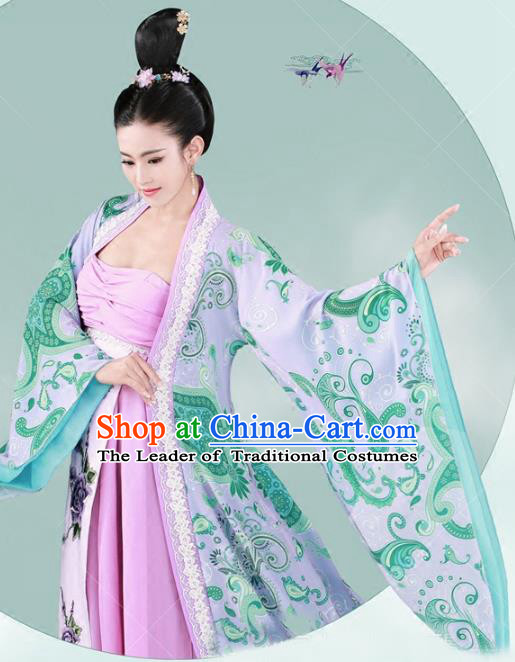 Chinese Traditional Tang Dynasty Imperial Consort Hanfu Dress Ancient Palace Lady Costume for Women