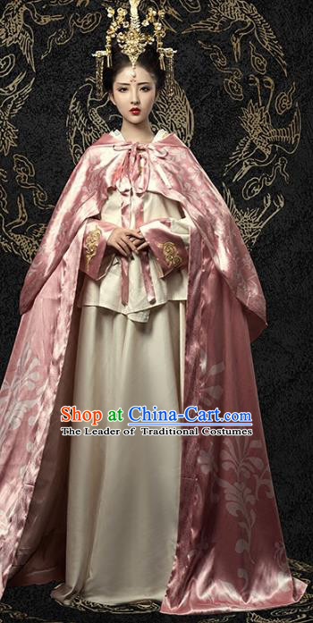 Traditional Chinese Tang Dynasty Imperial Consort Hanfu Dress Ancient Palace Lady Costume and Headpiece for Women