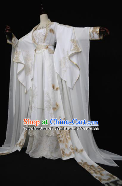 Chinese Ancient Cosplay Queen Costume Han Dynasty Princess Embroidered Hanfu Dress for Women