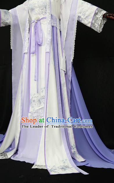 Chinese Ancient Cosplay Queen Costume Tang Dynasty Princess Embroidered Hanfu Dress for Women