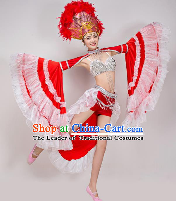 Traditional Chinese Fan Dance Folk Dance Costume Classical Yangko Dance Modern Dance Dress Halloween Clothing