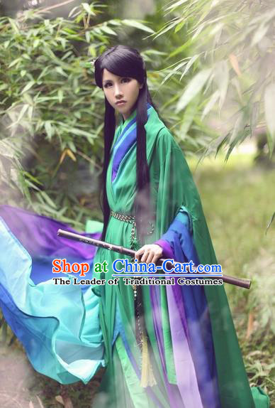 Chinese Ancient Cosplay Swordsman Costume Song Dynasty Kawaler Hanfu Clothing for Men