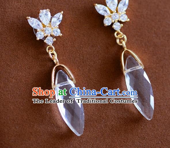 Top Grade Handmade Jewelry Accessories Ancient Crystal Earrings for Women
