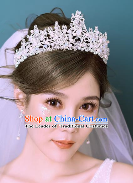 Baroque Style Hair Jewelry Accessories Crystal Royal Crown Princess Hair Clasp for Women