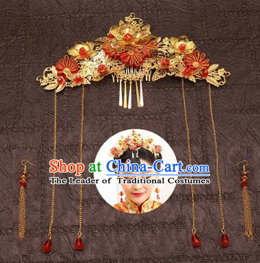 Chinese Traditional Hair Accessories Ancient Hairpins Phoenix Coronet for Women