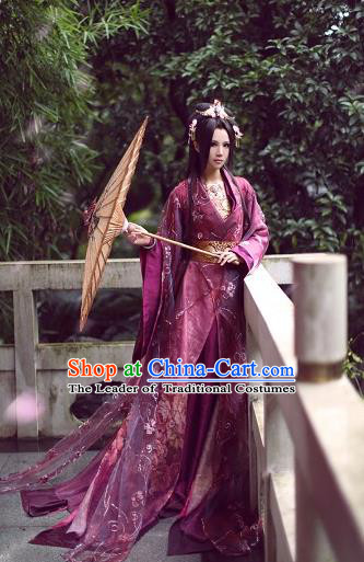 Chinese Ancient Cosplay Imperial Concubine Embroidered Costumes Tang Dynasty Palace Lady Hanfu Dress for Women