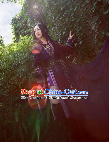 Chinese Ancient Cosplay Female Assassin Costumes Ming Dynasty Swordswoman Hanfu Dress for Women
