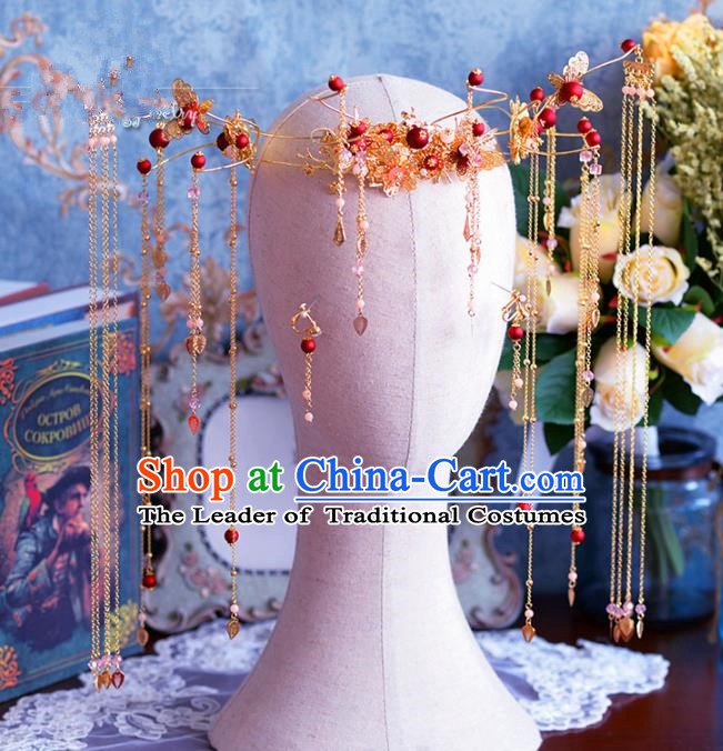 Chinese Ancient Handmade Hair Accessories Traditional Phoenix Coronet Hairpins for Women