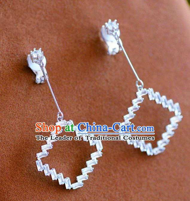 Top Grade Handmade Wedding Jewelry Accessories Zircon Earrings for Women
