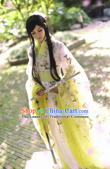 Chinese Ancient Cosplay Knight-errant Nobility Childe Costumes Jin Dynasty Swordsman Clothing for Men