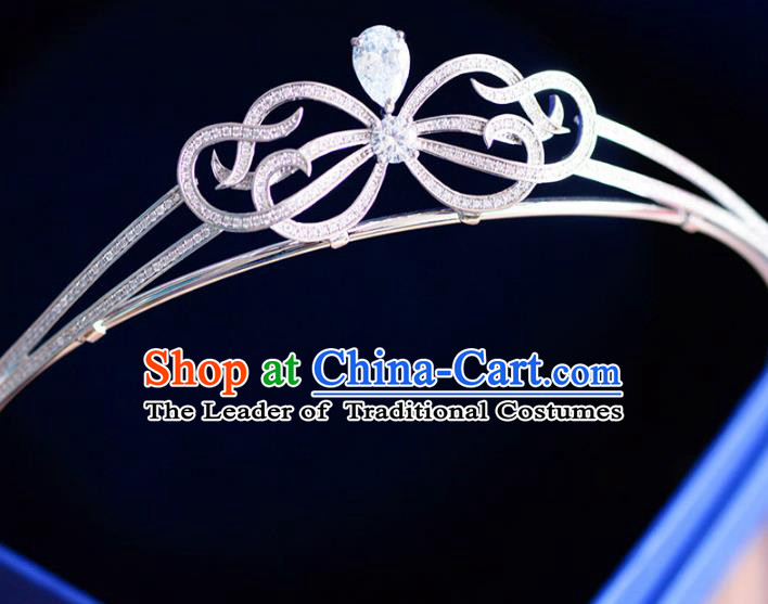 Top Grade Handmade Baroque Hair Accessories Bride Diamante Zircon Royal Crown Headwear for Women