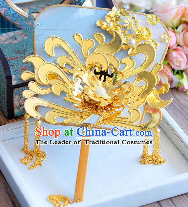 Chinese Handmade Wedding Accessories Palace Fans Hanfu Fans for Women
