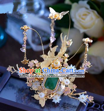Ancient Chinese Handmade Hair Accessories Xiuhe Suit Hairpins Butterfly Hair Stick for Women