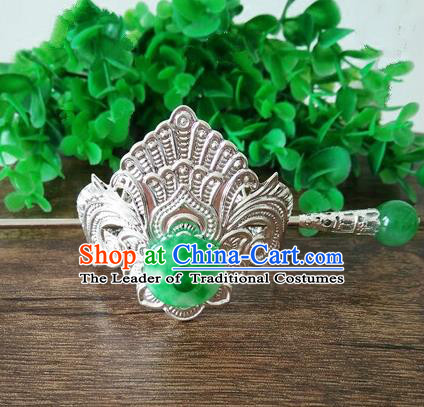 China Ancient Nobility Childe Handmade Hair Accessories Swordsman Jade Hairdo Crown Headwear for Men