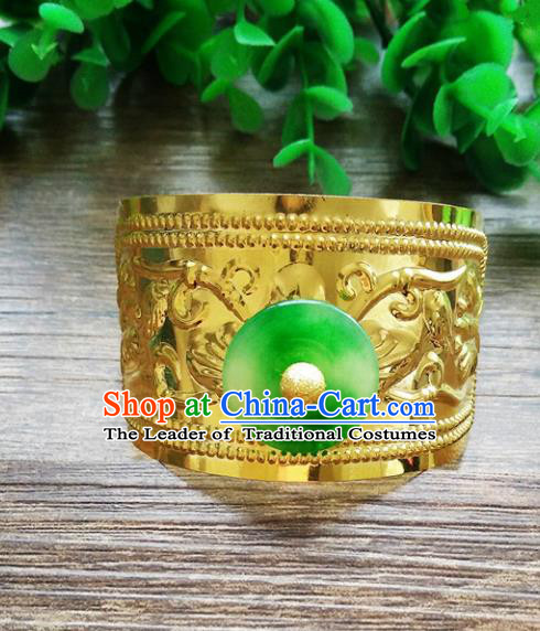 Handmade China Ancient Nobility Childe Hair Accessories Swordsman Golden Hairdo Crown Headwear for Men