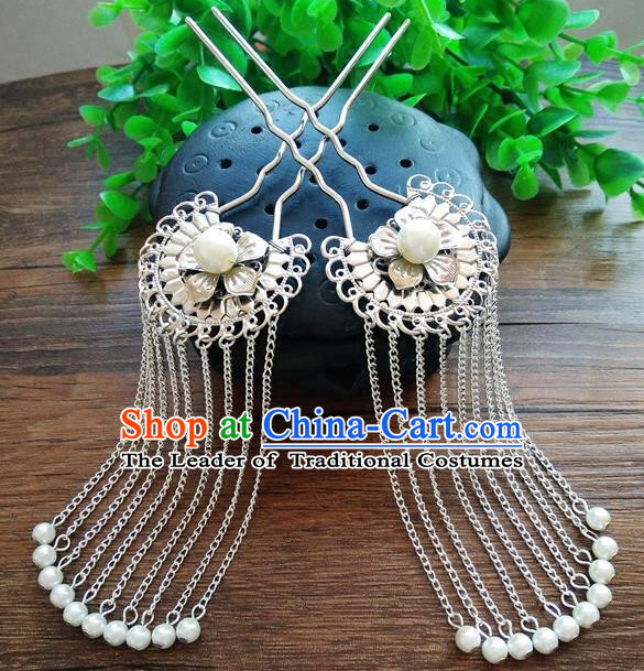 Ancient Chinese Handmade Hair Accessories Classical Tassel Hair Clips Hairpins for Women