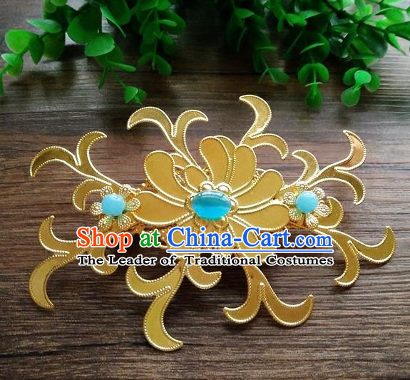 Ancient Chinese Handmade Golden Hair Stick Hair Accessories Classical Hairpins for Women