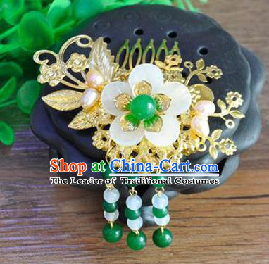 Ancient Chinese Handmade Flower Hair Comb Hair Accessories Classical Hairpins for Women