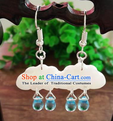 Top Grade Chinese Handmade Accessories Hanfu Shell Eardrop Ancient Earrings for Women