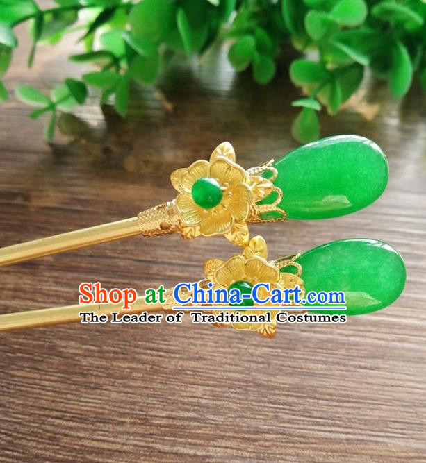 Chinese Ancient Handmade Hanfu Brass Hair Clip Hair Accessories Classical Hairpins for Women