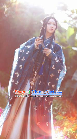 Ancient Chinese Cosplay Nobility Childe Embroidered Costume Jin Dynasty Prince Swordsman Clothing for Men