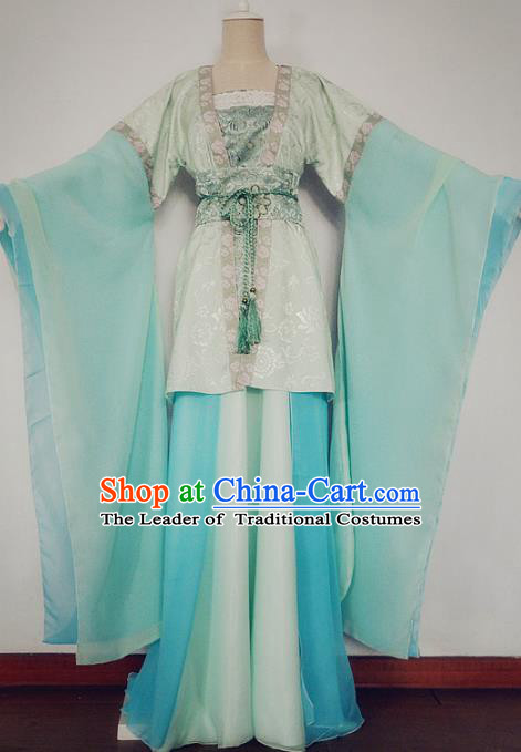 Chinese Ancient Cosplay Swordswoman Costume Traditional Song Dynasty Princess Hanfu Dress for Women
