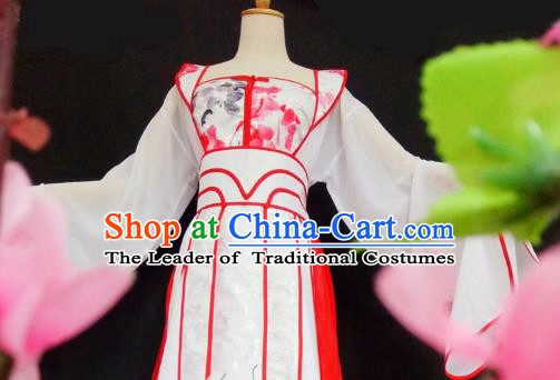 Chinese Ancient Cosplay Princess Fairy Costume Traditional Song Dynasty Princess Hanfu Dress for Women