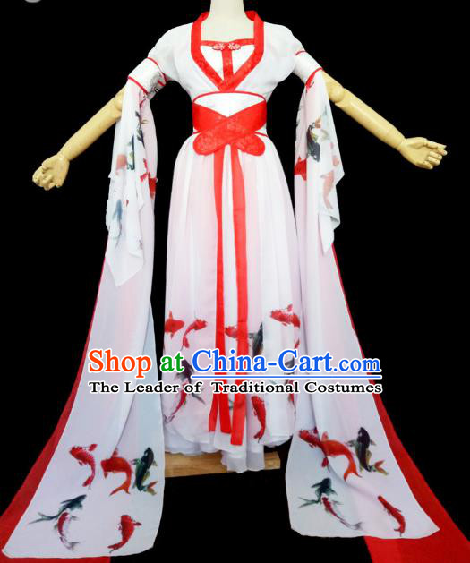 Chinese Ancient Cosplay Swordswoman Hanfu Dress Traditional Tang Dynasty Palace Lady Costume for Women