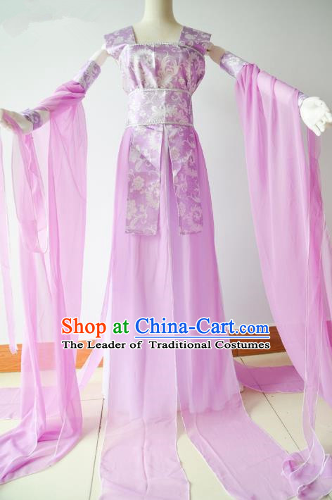 Chinese Traditional Tang Dynasty Palace Lady Dance Hanfu Dress Ancient Fairy Embroidered Costume for Women