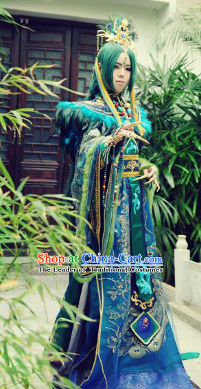 Chinese Ancient Cosplay Royal Highness Costume Han Dynasty Prince Swordsman Clothing for Men