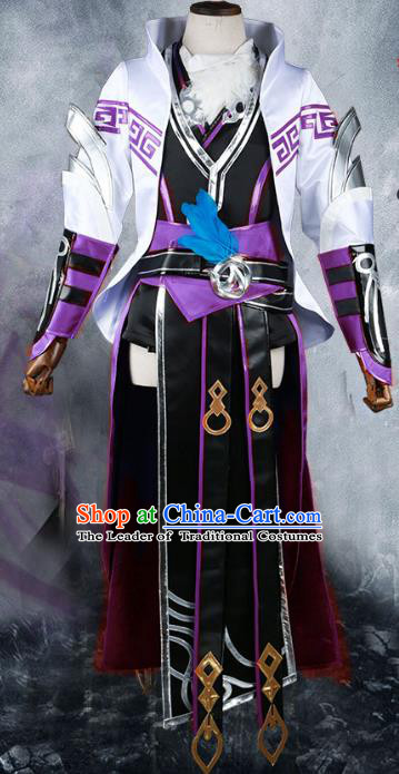 Chinese Traditional Ancient Young Lady Cosplay Swordswoman Costume for Women
