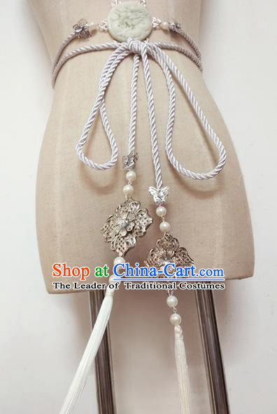 Chinese Ancient Handmade Jade Waist Accessories Hanfu Waist Strap Waistband for Women