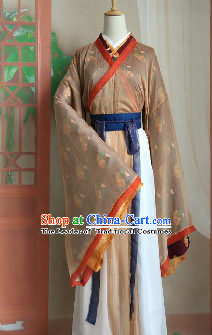 Chinese Traditional Ancient Nobility Lady Hanfu Dress Jin Dynasty Swordswoman Embroidered Costumes for Women
