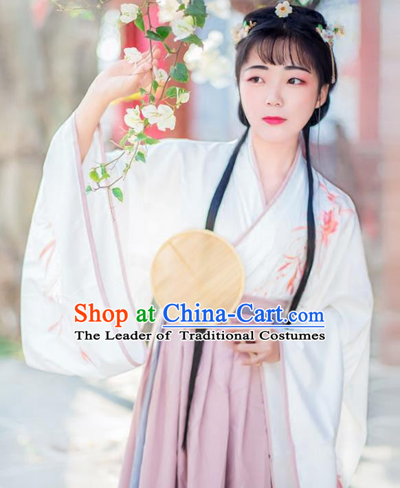 Chinese Traditional Ancient Han Dynasty Nobility Lady Princess Costumes for Women