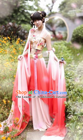 Chinese Ancient Geisha Dance Costume Tang Dynasty Palace Lady Hanfu Dress for Women
